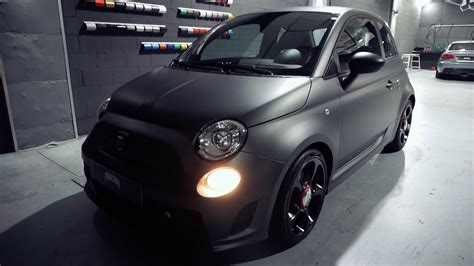 abarth  matte dark grey wrap hd youtube