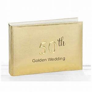 Golden wedding photo album gifts by anniversaryideas for Golden wedding anniversary gift ideas