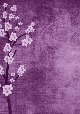 vintage oriental lilac blossom  backing paper