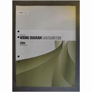 Volvo S60 S60r S80 Wiring Diagrams Manual 2004 Tp3970032