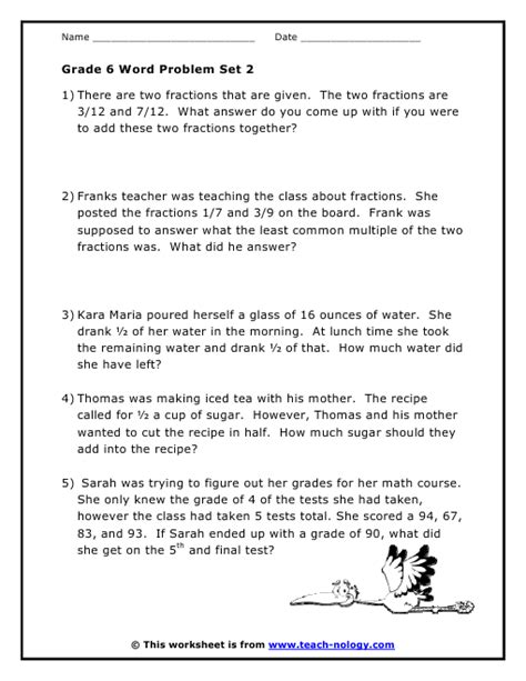 fractions worksheets grade 6 word problems math worksheets for grade 6 grade 6 mixed math
