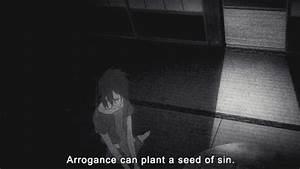 gif quote anime monochrome !my gifs shinsekai yori shin ...