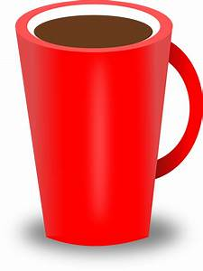 Clipart - Red Coffee Cup