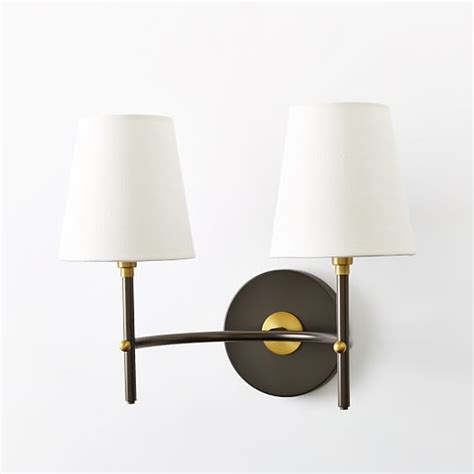 arc mid century sconce antique bronze west elm