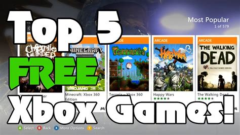 m xbox 360 games top 5 free xbox 360 arcade from marketplace
