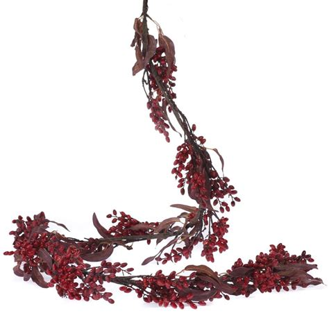 fall artificial berry and leaf garland garlands floral