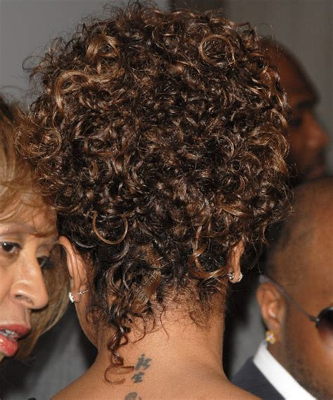 janet jackson casual long curly updo hairstyle