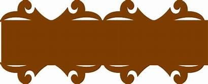 Brown Banner Clip Ribbon Clipart Vector Clker