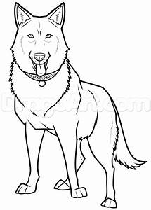 Black German Shepherd Drawing Step By Step Pets Animals