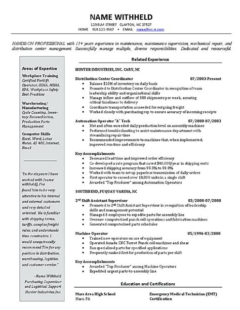 Inventory Management Resume by Inventory Manager Resume