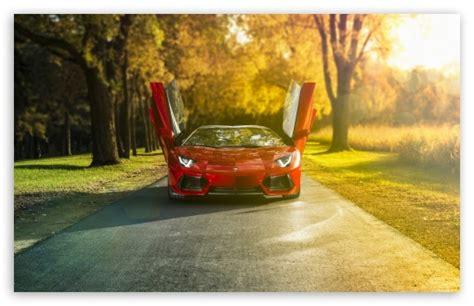 Lamborghini Aventador Lp700 4 Roadster Red 4k Hd Desktop