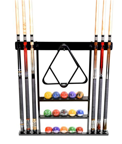 How To Rack In Pool - cue rack only 6 pool billiard stick set wall