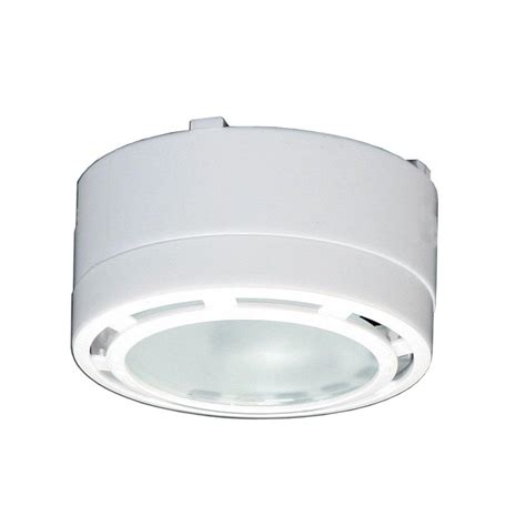 irradiant 4 light 120 volt white cabinet xenon puck