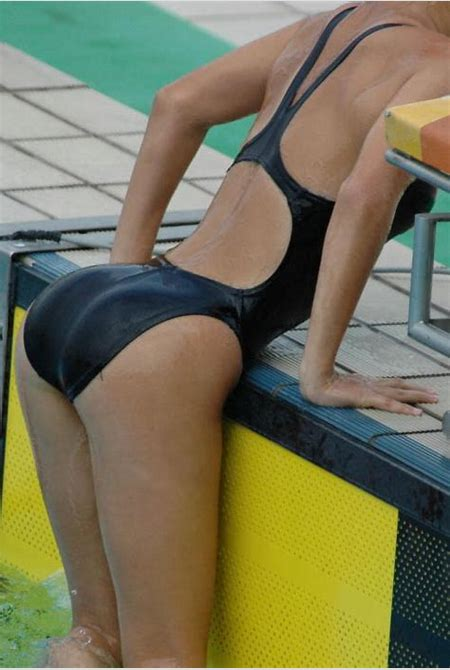 Girls in black swimsuits