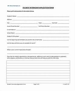 8  Internship Application Examples  U0026 Samples In Pdf