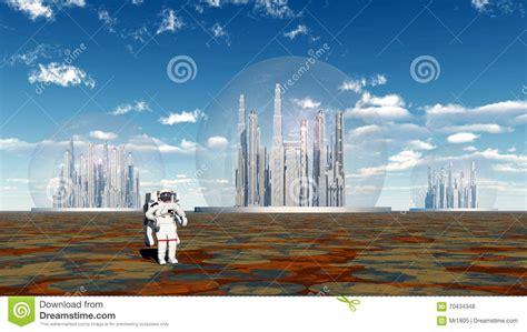 la vie extraterrestre et astronaute illustration stock