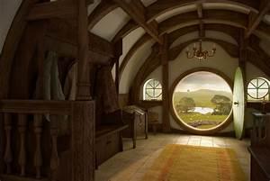 hobbit, width, hole, home, interior, door wallpaper ...