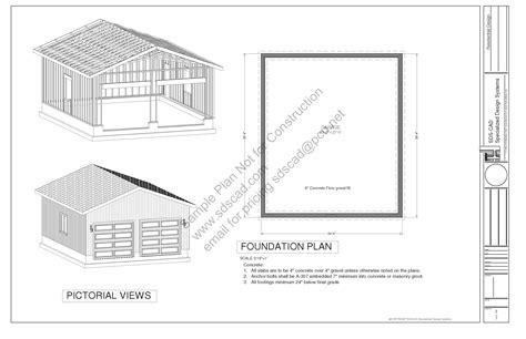 stunning x garage plans photos 24 4 quot x 28 4 quot pdf garage plans blueprints free sle