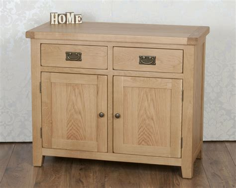 Oak 2 Door Sideboard chunky solid oak harrogate 2 door 2 drawer