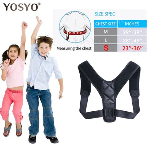 YOSYO Brace Support Belt Adjustable Back Posture Corrector ...