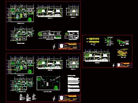 bamboo housing dwg detail  autocad designs cad