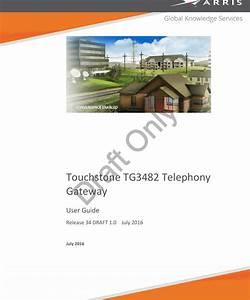 Arris Tg3482er Wireless Telephony Gateway User Manual