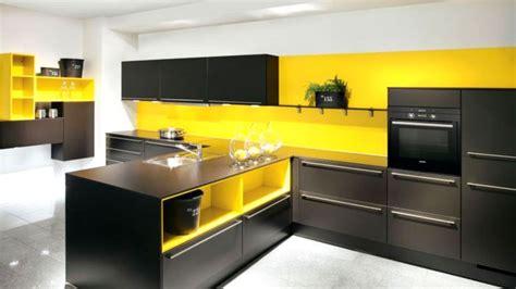 cuisine jaune et noir la cuisine le des cuisines