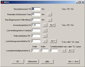 Schrittmotor Drehmoment Berechnen : wn11 scheibenfederverbindungen ~ Themetempest.com Abrechnung