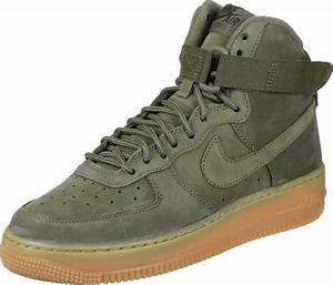 Women Affordable Nike Air Force 1 High WB GS Shoes - Olive Women Nike High Top Sneakers (44451QB ...
