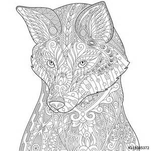 Fox Wolf Adult Coloring Pages