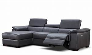 Alba premium leather power reclining sectional usa for Sectional sofas with power recliners