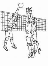 Coloring Volleyball Blocking Attack Drawing Players Voleibol Printable Dibujos Cartoon Children Realistic Deportes Letscolorit Sheet Guardado Desde Pintar Imprimir sketch template