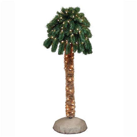 general foam 4 ft pre lit palm artificial christmas tree