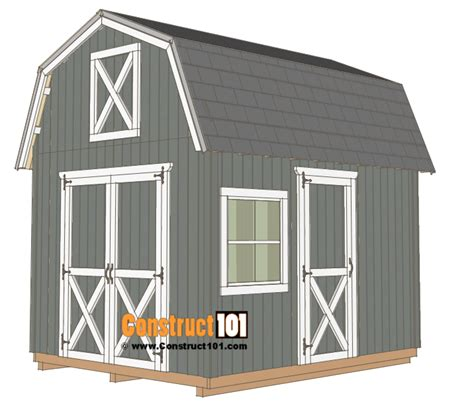 barn shed plans construct