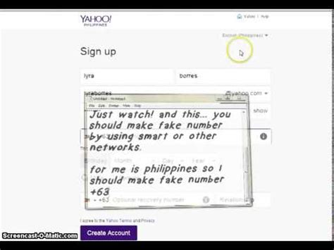 email account without phone number how to create make yahoo email account