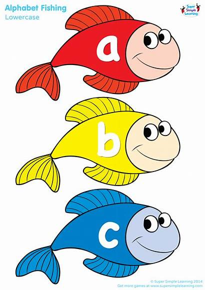 Fishing Alphabet Number Simple Super Learning Lowercase