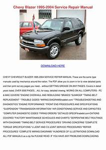 Chevy Blazer 1995 2004 Service Repair Manual By
