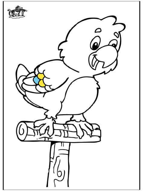 papagei  ausmalbilder voegel