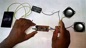 3v Battery Powered Stereo Amplifier Circuit Tda2822m Video