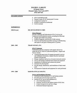 hvac resume sample best professional resumes letters With hvac technician resume template