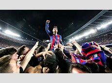 Lionel Messi Goes Crazy With Fans After Barcelona's