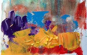 Wall Oil Painting Color Texture Abstract Wallpaper