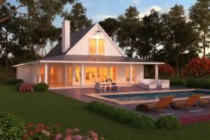 One Story Farmhouse Plans Lanai Farmhouse Time To Build