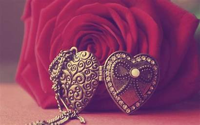 Heart Rose Flower Wallpapers Pendant Necklace Necklaces