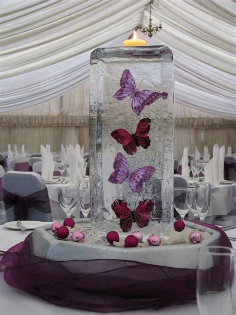 decoration de table papillon mariage violet mariage