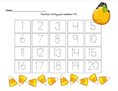 trace numbers 1 20 kiddo shelter 481 | Trace Numbers 1 20 for Kindergarten