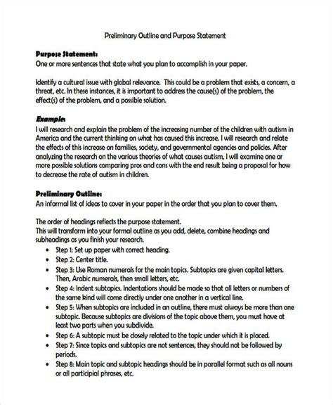 statement  purpose examples samples