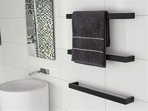 kado quad kado quad heat towel rail   blk
