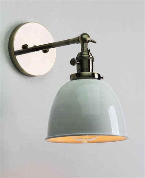 vintage antique industrial bowl sconce loft wall light