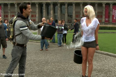 BEST OF EUROPE Beautiful German Milf Bound And Fucked In Public With Sophie Logan For Public ...